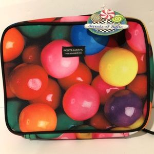 Gumball Insulated Zippered Lunch Bag NWT